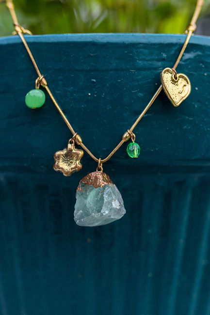 Picture of Green fluorite necklace